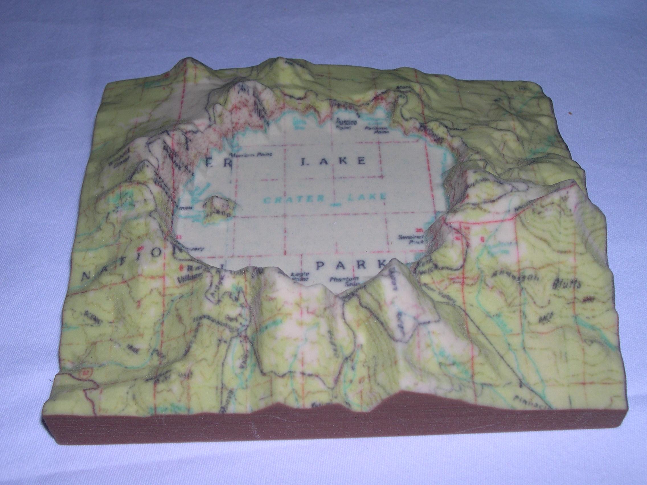 Impresión 3D - mapa relieve