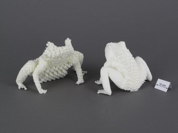 Ejemplo de impresión 3D - ranas
